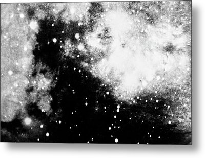 Stars And Cloud-like Forms In A Night Sky Metal Print