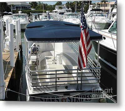 Metal Print featuring the photograph Stars And Stripes by Janette Boyd
