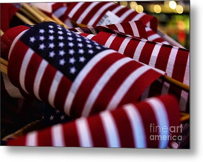 Metal Print featuring the photograph Stars And Stripes by John S