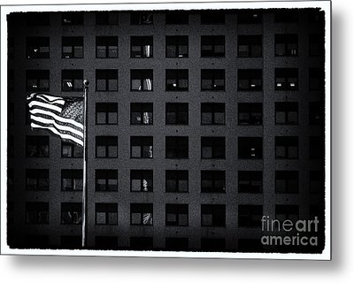 Stars And Stripes New York City Metal Print
