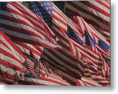 Stars And Stripes - Remembering Metal Print by Jack Zulli