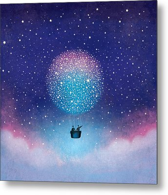 Stars Baloon Metal Print by Roberto Weigand