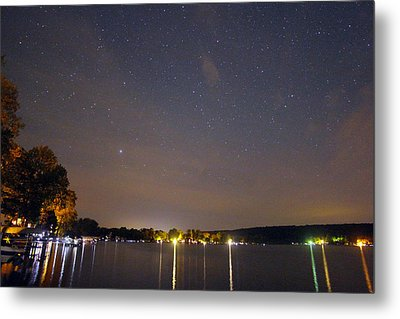 Stars Over Conesus Metal Print by Richard Engelbrecht