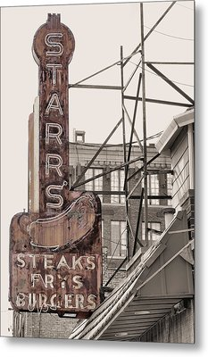 Stars Steaks Frys And Burgers Metal Print by JC Findley