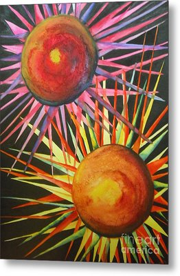 Stars With Colors Metal Print by Chrisann Ellis