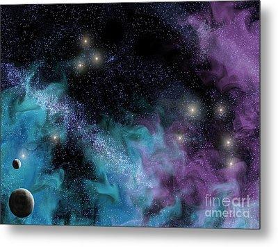 Starscape Nebula Metal Print by Antony McAulay