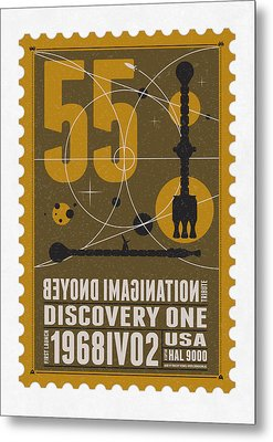Starschips 55-poststamp -discovery One Metal Print