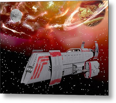 Starship Wonder Metal Print