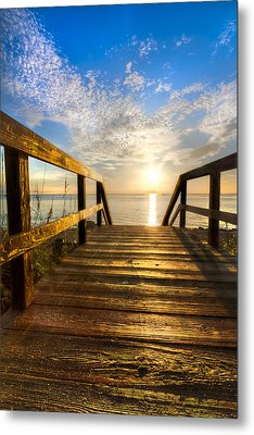 Start Of The Day Metal Print by Debra and Dave Vanderlaan