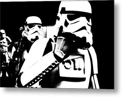 Starwars Troopers Metal Print