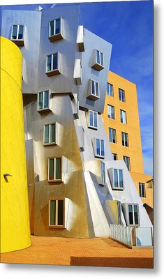 Metal Print featuring the photograph Stata Building At M I T by Caroline Stella