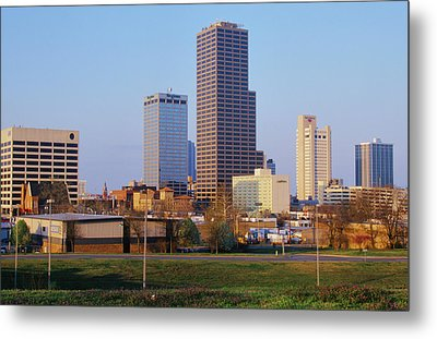 State Capital And Skyline In Little Metal Print