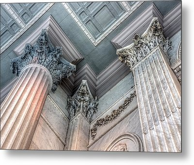 State House Exterior Columns Metal Print by Rob Sellers