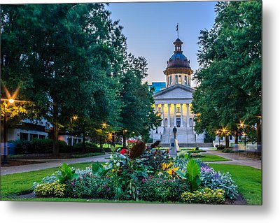 State House Garden Metal Print