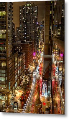 State Street - Chicago - 12-14-13 Metal Print by Michael  Bennett