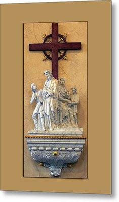 Station Of The Cross 01 Metal Print by Thomas Woolworth