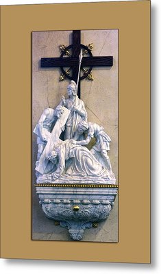 Station Of The Cross 07 Metal Print by Thomas Woolworth