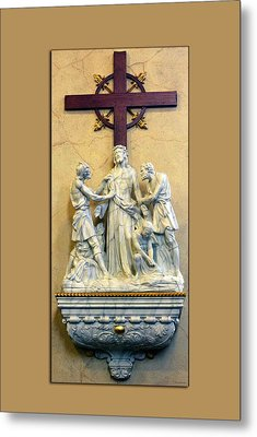 Station Of The Cross 10 Metal Print by Thomas Woolworth