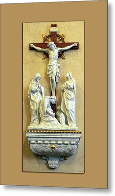 Station Of The Cross 12 Metal Print by Thomas Woolworth