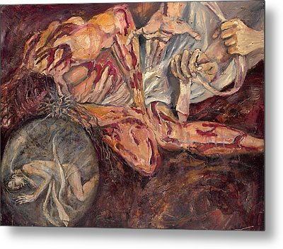 Station X Jesus Is Stripped Of His Garments Metal Print