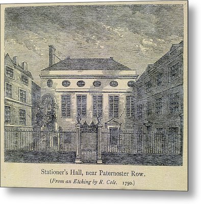 Stationer's Hall Near Paternoster Row Metal Print by British Library
