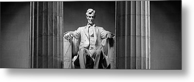 Statue Of Abraham Lincoln Metal Print by Panoramic Images