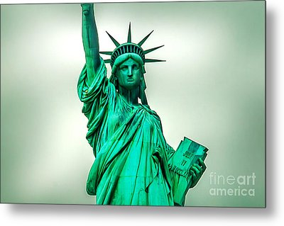 Statue Of Liberty Metal Print by Az Jackson