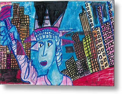 Statue Of Liberty Metal Print by Don Koester