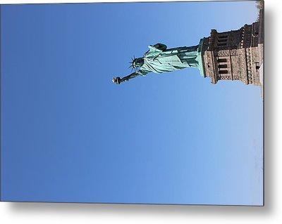 Statue Of Liberty Greeting Metal Print