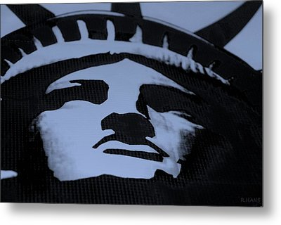 Statue Of Liberty In Dark Cyan Metal Print by Rob Hans