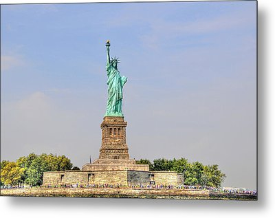 Statue Of Liberty Macro View Metal Print by Randy Aveille