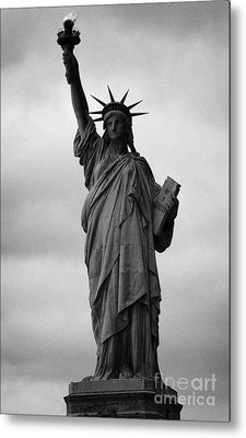 Statue Of Liberty National Monument Liberty Island New York City Nyc Usa Metal Print by Joe Fox