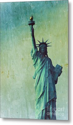 Statue Of Liberty Metal Print by Sophie Vigneault