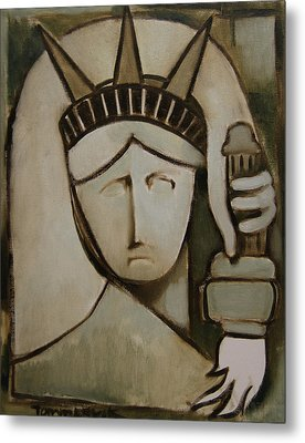 Tommervik Abstract Statue Of Liberty Art Print Metal Print