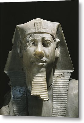 Statue Of Menkaure. 2490 - 2472 Bc Metal Print by Everett