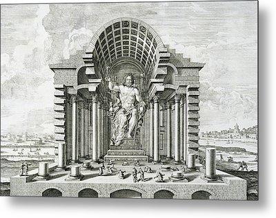 Statue Of Olympian Zeus Metal Print by Johann Bernhard Fischer von Erlach