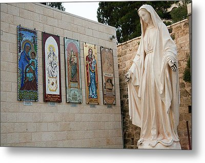Statue Of The Virgin Mary, Mother Metal Print