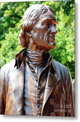 Statue Of Thomas Jefferson Metal Print