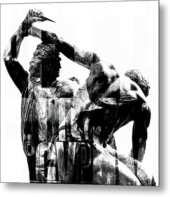 Statue With Texture Metal Print