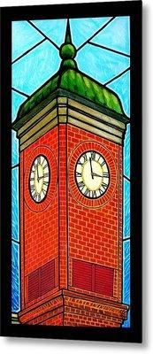Staunton Virginia Clock Tower Metal Print by Jim Harris