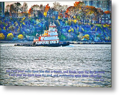 Stay Afloat With Hope Metal Print by Terry Wallace