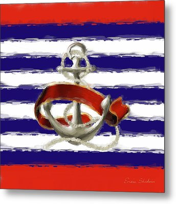 Stay Anchored Metal Print