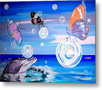 Stay And Play Metal Print by Phyllis Kaltenbach