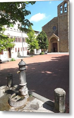 Piazza In Arezzo Metal Print by Irina Stroup
