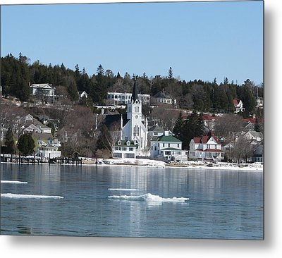 Ste. Anne's Catholic Church On Mackinac Island Metal Print by Keith Stokes