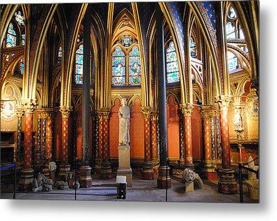 Ste.-chapelle Lower Chapel Metal Print