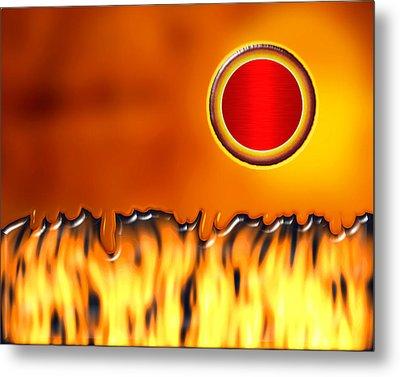 Steady Burn Metal Print by Wendy J St Christopher