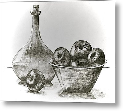 Stealing Of The Orchard Metal Print