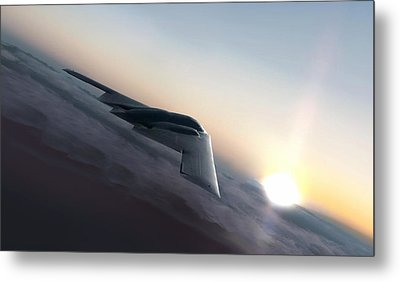 Stealth Sunset Metal Print by Peter Chilelli