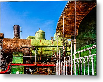 Steam And Iron - Last Station Metal Print by Alexander Senin